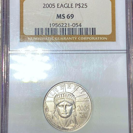 2005 $25 Platinum Eagle NGC - MS69