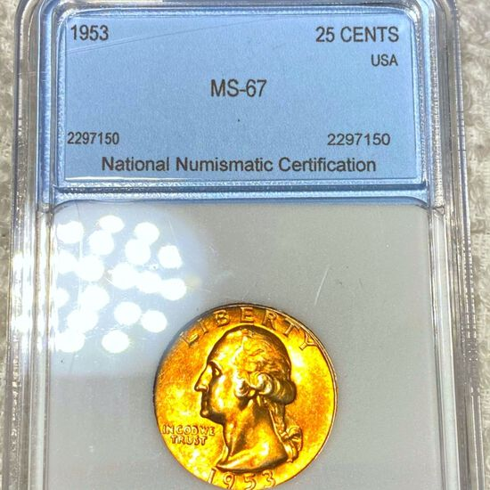 1953 Washington Silver Quater NNC - MS67