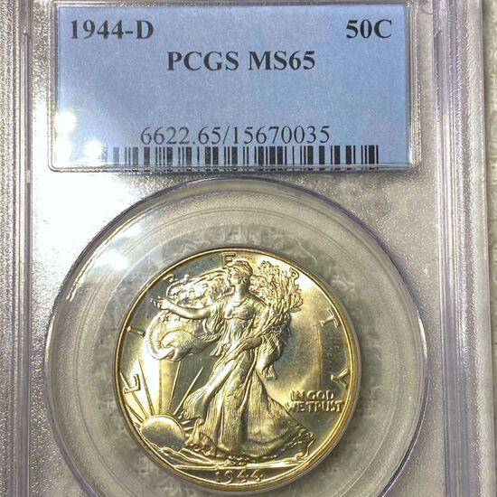 1944-D Walking Half Dollar PCGS - MS65