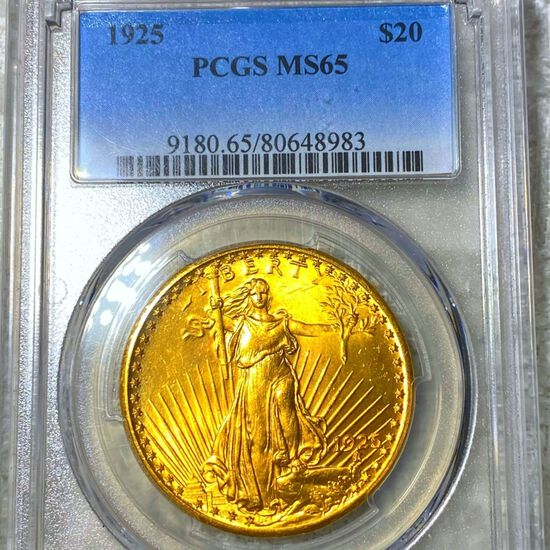 1925 $20 Gold Double Eagle PCGS - MS65