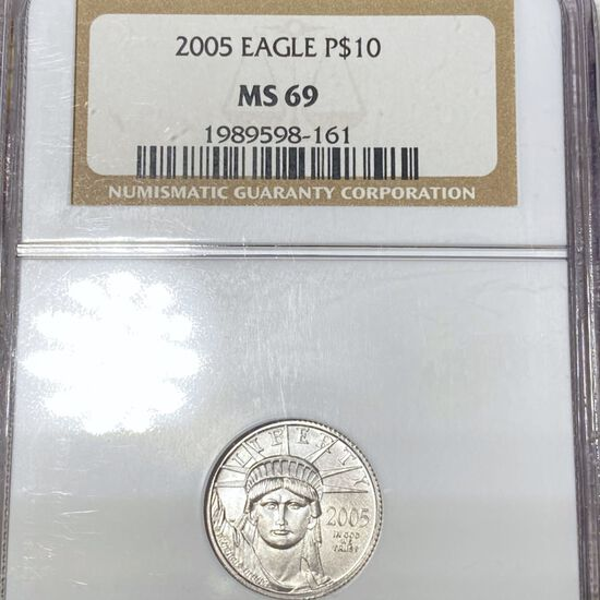 2005 $10 Platinum Eagle NGC - MS69