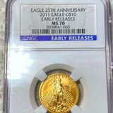 2011 $10 Gold Eagle NGC - MS70