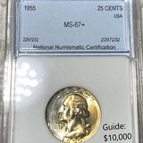 1955 Washington Silver Quarter NNC - MS67+