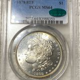 1878 8TF Morgan Silver Dollar PCGS - MS 64 CAC