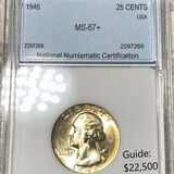 1946 Washington Silver Quarter NNC - MS67+