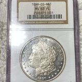 1890-CC Morgan Silver Dollar NGC - MS 63 PL