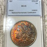 1897 Morgan Silver Dollar NNC - MS65