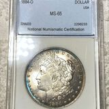 1884-O Morgan Silver Dollar NNC - MS65