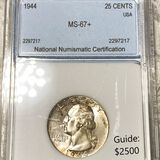 1944 Washington Silver Quarter NNC - MS67+