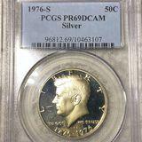 1976-S Kennedy Silver Half Dollar PCGS - PR69DCAM