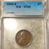 1909-S V.D.B. Lincoln Wheat Penny ICG - VF20