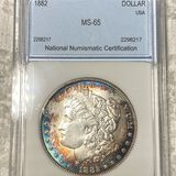 1882 Morgan Silver Dollar NNC - MS65