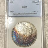1896 Morgan Silver Dollar NNC - MS65