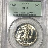 1942 Walking Half Dollar PCGS - MS65