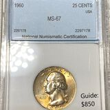 1960 Washington Silver Quarter NNC - MS67