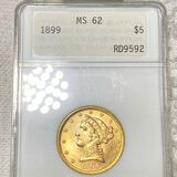 1899 $5 Gold Half Eagle ANA - MS62