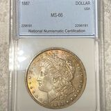 1887 Morgan Silver Dollar NNC - MS66