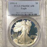 1991-S Silver Eagle PCGS - PR 69 DCAM