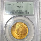 1910-D $10 Gold Eagle PCGS - MS61