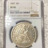 1847 Seated Liberty Dollar NGC - XF45