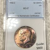 1968-D Kennedy Half Dollar NNC - MS67