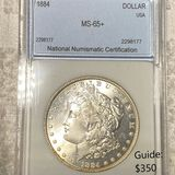 1884 Morgan Silver Dollar NNC - MS65+