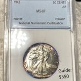 1942 Walking Half Dollar NNC - MS67