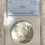 1922 Silver Peace Dollar NNC - MS65+