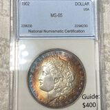 1902 Morgan Silver Dollar NNC - MS65