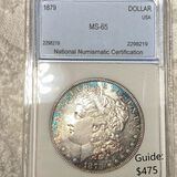 1879 Morgan Silver Dollar NNC - MS65