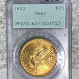 1922 Gold Double Eagle PCGS - MS63