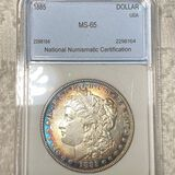 1885 Morgan Silver Dollar NNC - MS65