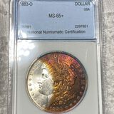 1883-O Morgan Silver Dollar NNC - MS65+