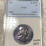 1957 Franklin Half Dollar NNC - PR 69