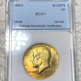 1969-D Kennedy Half Dollar NNC - MS67+