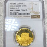 2004 Greek Olyimpic Gold 100 Euro NGC-PF65 ULTCAM