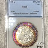1921-D Morgan Silver Dollar NNC - MS 65+