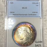 1925 Silver Peace Dollar NNC - MS66