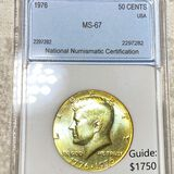 1976 Kennedy Half Dollar NNC - MS67