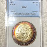 1921 Morgan Silver Dollar NNC - MS65
