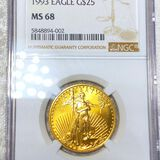 1993 $25 Gold Eagle NGC - MS68 1/2oz