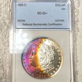 1885-O Morgan Silver Dollar NNC - MS65+