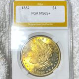 1882 Morgan Silver Dollar PGA - MS65+