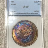 1921 Morgan Silver Dollar NNC - MS65+