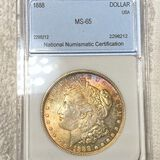 1888 Morgan Silver Dollar NNC - MS65