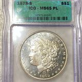 1878-S Morgan Silver Dollar ICG - MS65 PL