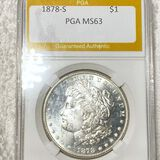 1878-S Morgan Silver Dollar PGA - MS63