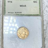 1916 Barber Silver Dime PCI - MS65