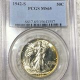 1942-S Walking Half Dollar PCGS - MS65