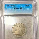 1875-CC Twenty Cent Piece ICG - G6